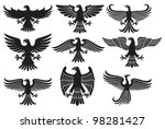 heraldic eagle set  design... | Shutterstock . vector #98281427