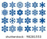 collection of snowflakes | Shutterstock . vector #98281553