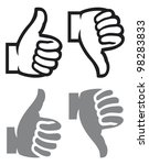 thumb up and down gesture  like ... | Shutterstock .eps vector #98283833