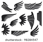 wings collection | Shutterstock .eps vector #98284547