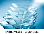 wine glasses in row. blue... | Shutterstock . vector #98303333