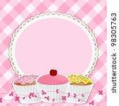 Cupcakes On A Decorative Borde...