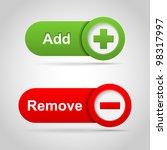 web add and remove icon. vector   Shutterstock .eps vector #98317997
