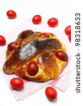 Small photo of Delicious Folar (traditional sweet bread on Passover holiday) typical of Portugal