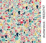 social media network icon set... | Shutterstock . vector #98324747
