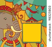 Circus Background With Animal