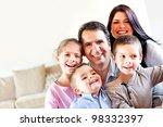 happy family portrait having... | Shutterstock . vector #98332397