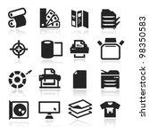 print icons set elegant series | Shutterstock .eps vector #98350583