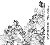 floral abstract pattern in... | Shutterstock .eps vector #98370017