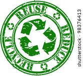 grunge reduce  reuse and...   Shutterstock .eps vector #98376413