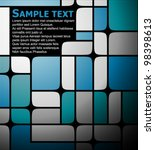 Abstract blue brochure made from squares - stock vector