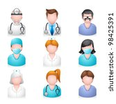 People Icons - Medical - stock vector