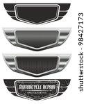 vector winged automotive ... | Shutterstock .eps vector #98427173