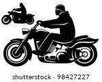 motorcycle rider. | Shutterstock .eps vector #98427227