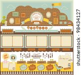 retro style cafe elements 3 | Shutterstock .eps vector #98434127