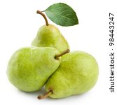three pears isolated on white... | Shutterstock . vector #98443247