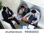 above angle of business group... | Shutterstock . vector #98483003