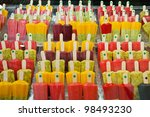 Colorful Popsicle - stock photo