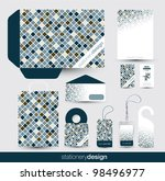 stationery design set in... | Shutterstock .eps vector #98496977