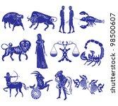 zodiac signs | Shutterstock .eps vector #98500607