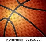 basketball ball detail leather... | Shutterstock .eps vector #98503733