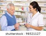 american pharmacist serving ...   Shutterstock . vector #98521127
