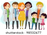 illustration of doctors... | Shutterstock .eps vector #98532677
