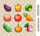 set of vegetables | Shutterstock .eps vector #98559587