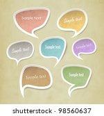 speech bubbles vector set... | Shutterstock .eps vector #98560637