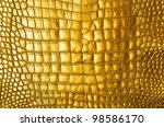 Vintage Gold crocodile skin texture. - stock photo