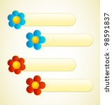 flower labels with place for...   Shutterstock .eps vector #98591837