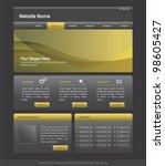 website design template black... | Shutterstock . vector #98605427