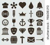 vintage retro icons set. vector ...   Shutterstock .eps vector #98608193