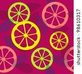seamless citrus pattern | Shutterstock .eps vector #98610317
