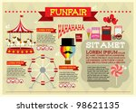 fun fair vector/illustration infographics - stock vector