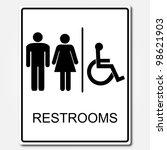 restroom sign   Shutterstock .eps vector #98621903