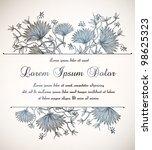 vintage floral invitation | Shutterstock .eps vector #98625323