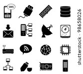 Computer and technology icon set - stock vector