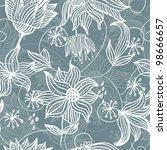 floral seamless pattern | Shutterstock . vector #98666657