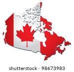 canada vector flag | Shutterstock .eps vector #98673983