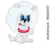 cartoon dog. puddle pet... | Shutterstock .eps vector #98682437