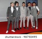 One Direction arriving for the 2012 Brit Awards, O2 Arena, London. 21/02/2012 Picture by: Simon Burchell / Featureflash - stock photo