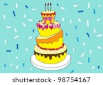 happy anniversary day on blue... | Shutterstock .eps vector #98754167