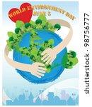 world environment day  ... | Shutterstock .eps vector #98756777