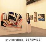 milan   april 08  people visit...   Shutterstock . vector #98769413