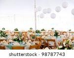 a look inside a tent set for...   Shutterstock . vector #98787743