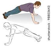 an image of a man doing push up ...
