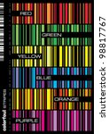 colorful seamless stripes... | Shutterstock .eps vector #98817767