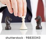 business man holding chess... | Shutterstock . vector #98830343