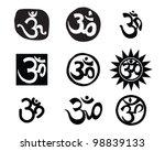 om aum symbol | Shutterstock .eps vector #98839133